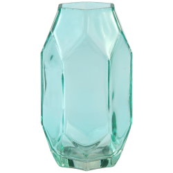 PTMD Amazing Green Clear Glass Vase