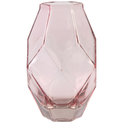 PTMD Amazing Pink Clear Glass Vase