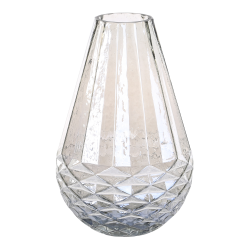 PTMD Cleo Grey Glass Vase Drop