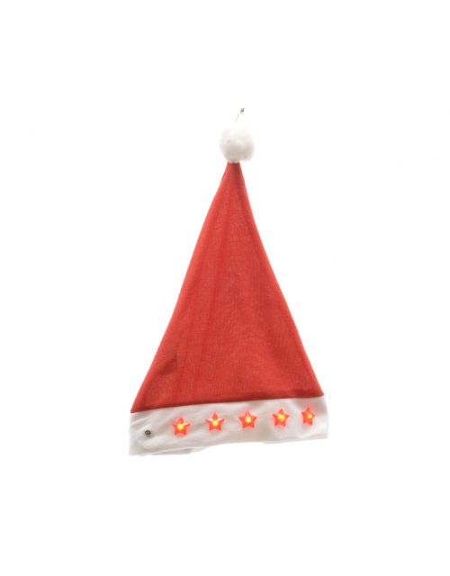 Decoris Santa hat with stars red