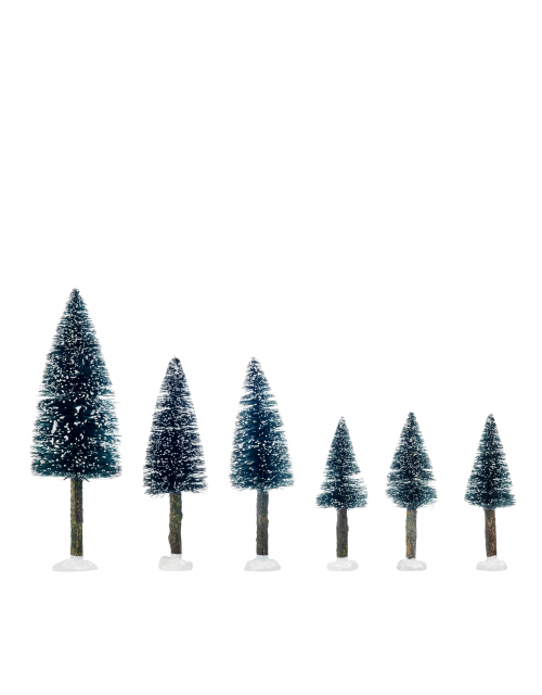 LuVille Bristle tree on log assorted 6 pieces