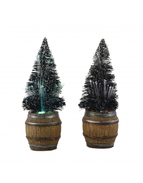 LuVille Christmas tree in barrel 2 pieces