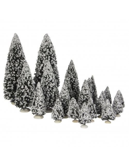 LuVille Evergreen tree assorted 21 pieces