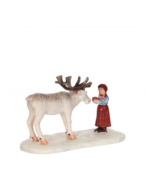 LuVille Girl and Reindeer