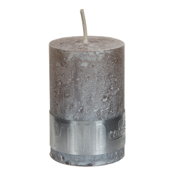 PTMD Metallic Taupe Pillar Candle