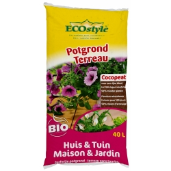 Ecostyle Potgrond (Cocopeat) Huis & Tuin 40 L - afbeelding 1