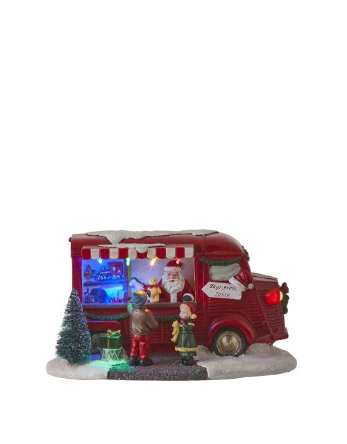 LuVille Santa's toy stand red
