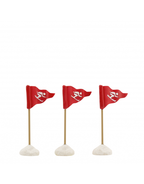 LuVille Ski flags red 3 pieces